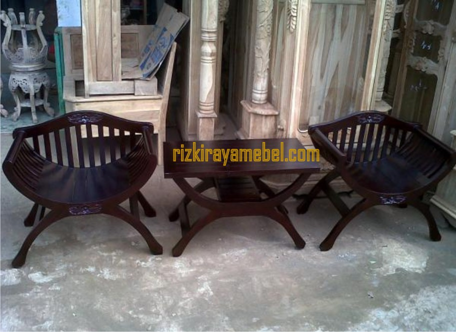 Model Kursi Teras Kayu Minimalis kursi teras yuyu sandaran rizki raya mebel