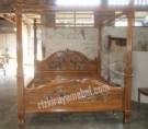 Dipan Tempat Tidur Ranting Kanopi