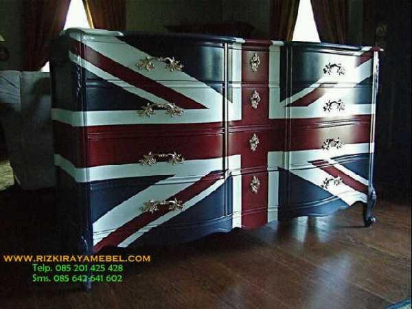 Meja Nakas England Flag Rizki Raya Mebel
