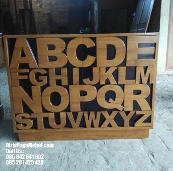 Desain Bufet Terbaru model Alfabet RRM