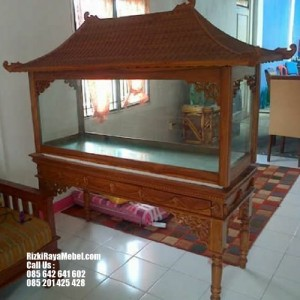 Meja Aquarium Jati Model Joglo