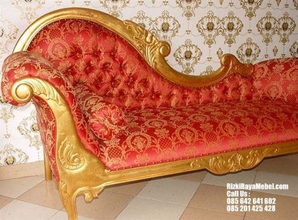 Sofa Single Santai Gold Luxury 2
