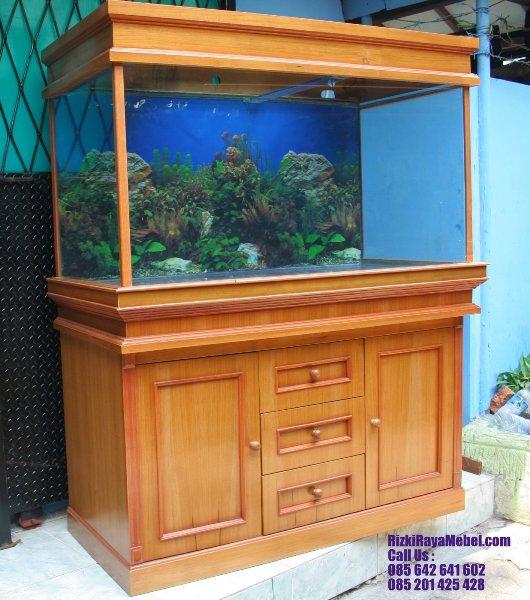 Tempat Aquarium Minimalis Jati Solid