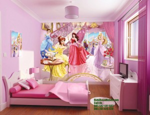 Set Tempat Tidur Anak Minimalis Princess Desney