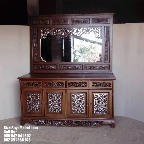 Meja Cermin Ukir Palembang