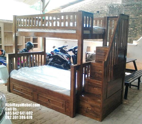 Tempat Tidur Anak Tingkat Kayu Jati