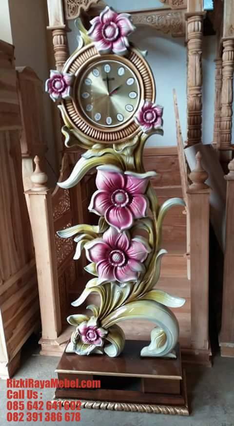 Jam Hias Ukiran Terbaru Bunga Melati Anggun