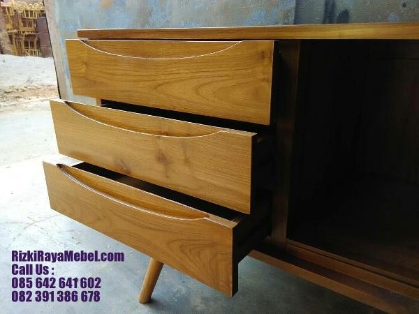 Meja Laci Mid Century Minimalis Jati 2 Rizki Raya Mebel toko online furniture Jepara berkualitas Call : 085642641602
