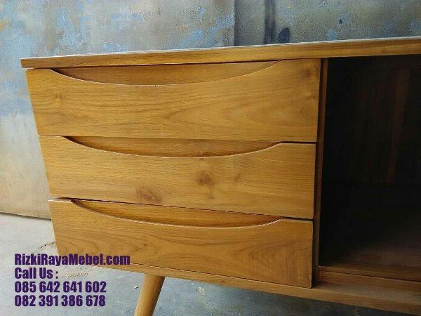 Meja Laci Mid Century Minimalis Jati 3 Rizki Raya Mebel toko online furniture Jepara berkualitas Call : 085642641602
