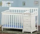 Ranjang Bayi Laci Warna Putih