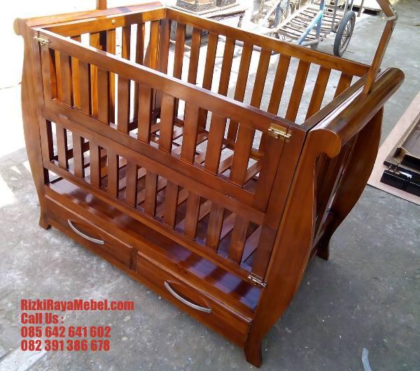 Tempat Tidur Bayi Kayu Jati Call RizkiRayaMebel 085642641602