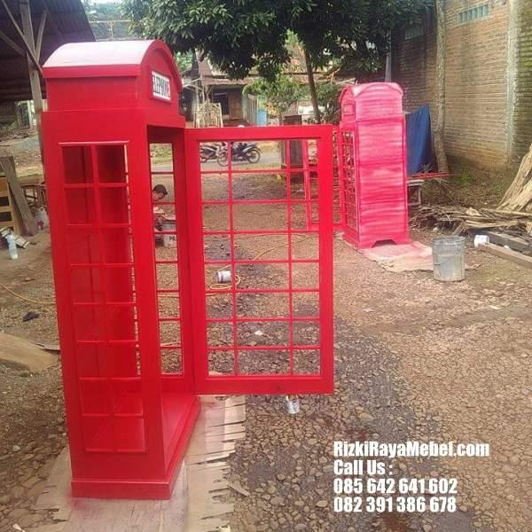 Rak Buku dan Pajangan Model Telephone 2 Rizki Raya Mebel toko online furniture Jepara berkualitas Call : 085642641602