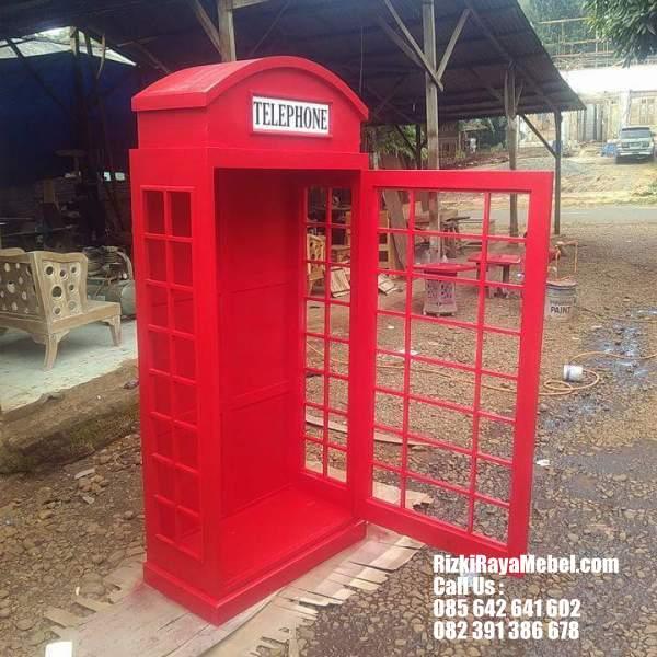 Rak Buku dan Pajangan Model Telephone