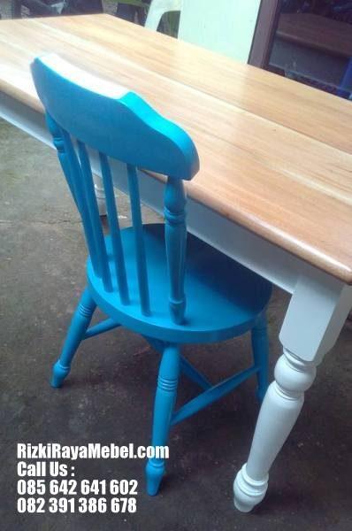 Set Meja Kursi Makan Kafe Restoran Rizki Raya Mebel toko furniture online Jepara terpercaya Call : 085642641602