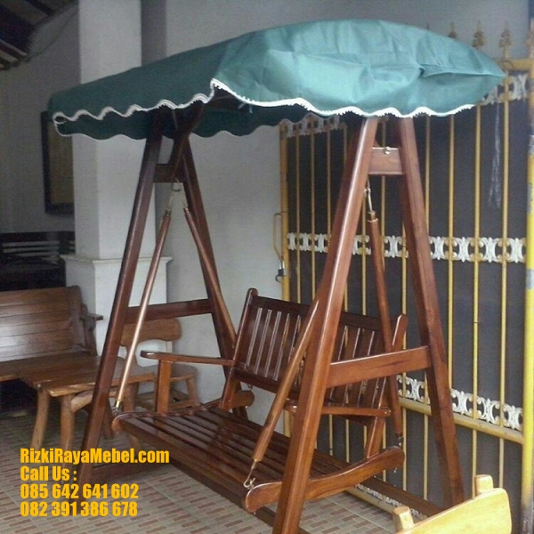 Ayunan Taman Minimalis Kayu Jati RRM 416