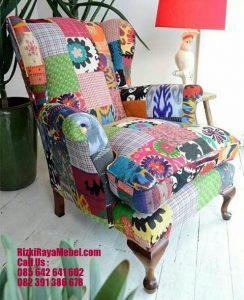 Kursi Sofa Terbaru Model Kain Kombinasi