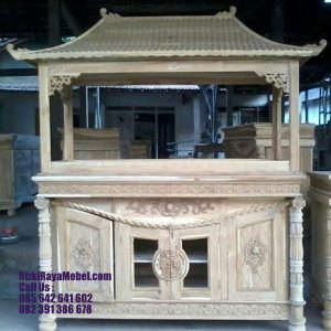 Model Meja Buffet Aquarium Jati Davinci