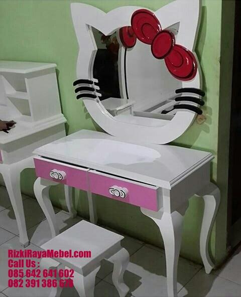 Meja Rias Hello Kitty Ungu Soft RRM 448