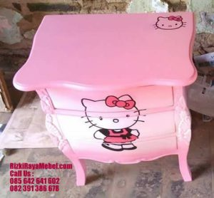 Nakas Ukir Pink Hello Kitty