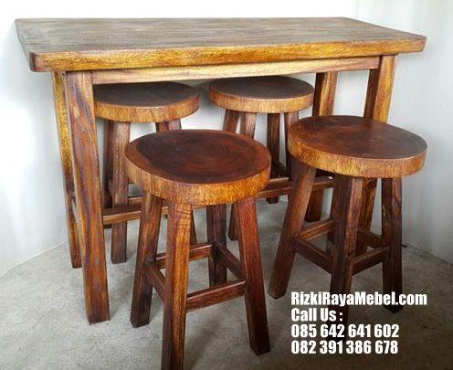 Set Kursi Kafe Unik Kayu Trembesi RRM 446