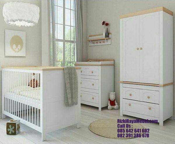 Set Kamar Tidur Bayi Minimalis Kayu Rizki Raya Mebel toko furniture online Jepara berkualitas Call : 085642641602