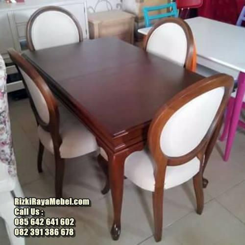 Set Kursi Makan Cafe Busa Jati RRM-464