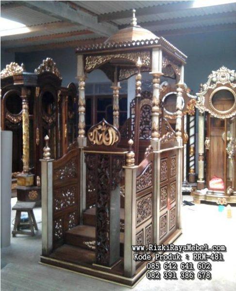 Mimbar Masjid Kubah Podium RRM-481