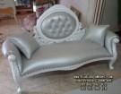 Kursi Sofa Single Putih Mewah
