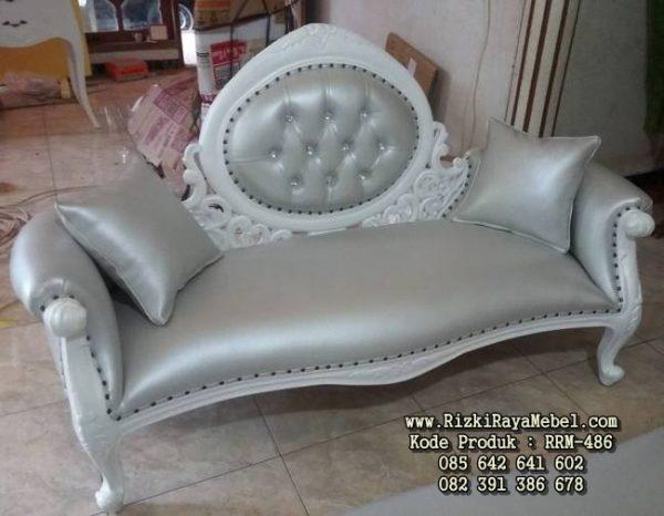 Kursi Sofa Single Putih Mewah RRM-486
