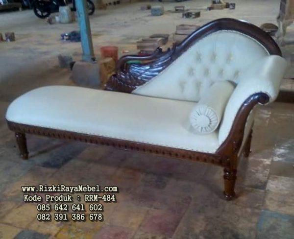 Sofa Ukiran Angsa Kayu Jati RRM-484