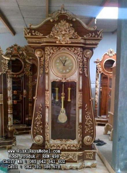 Lemari Jam Hias Jati Besar RRM-498