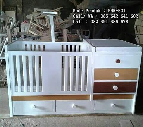 Tempat Tidur Bayi Lucu Warna Soft RRM-501