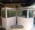 Bufet Aquarium Minimalis Putih Duco