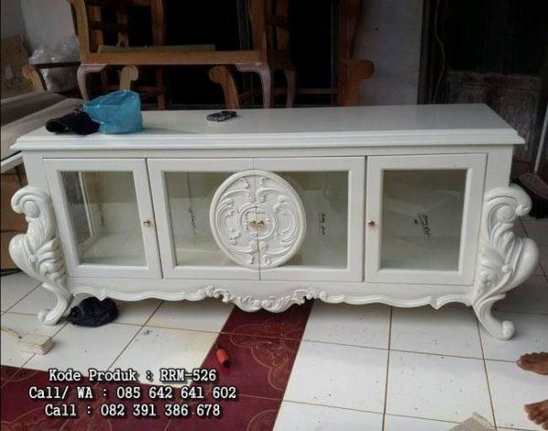 Bufet Ukiran Jepara Putih Duco RRM-526