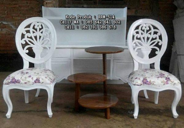 Kursi Teras Ukiran Shabby Cantik RRM-514