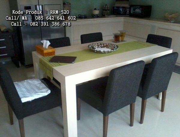 Set Meja Makan Minimalis Mewah RRM-520