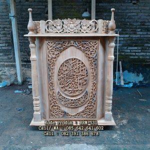 Harga Podium Mimbar Masjid Ukiran Terbaru