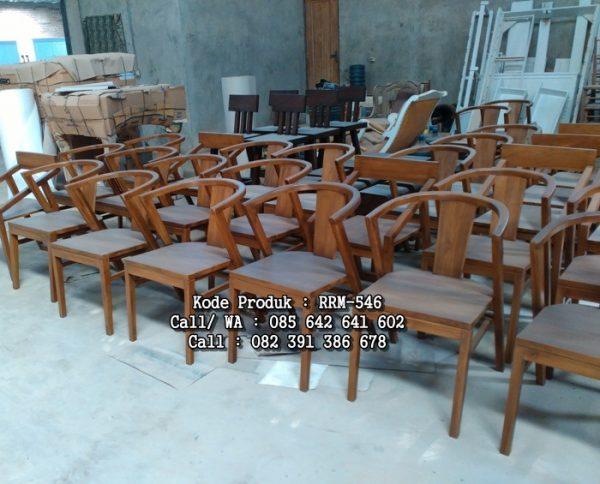 Model Kursi Cafe Restoran Kayu Jati Terbaru