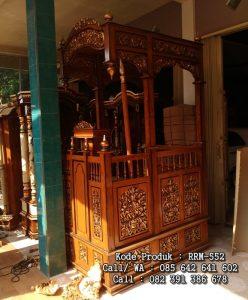Mimbar Masjid Jepara Kayu Jati Terbaru