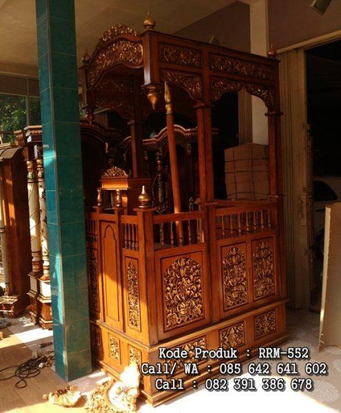 Jual Mimbar Masjid Jepara Kayu Jati Terbaru