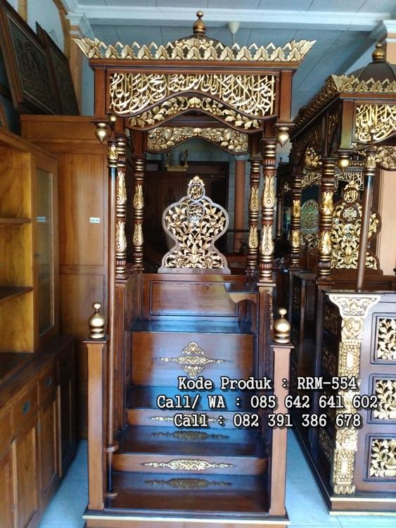Mimbar Masjid Istiqlal Ukiran Jepara