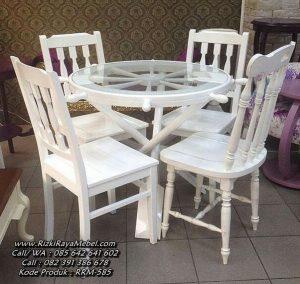 Set Kursi Makan Minimalis Putih Duco