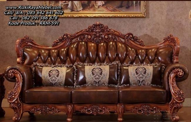 Set Kursi Ruang Tamu Sofa Ukiran Mewah