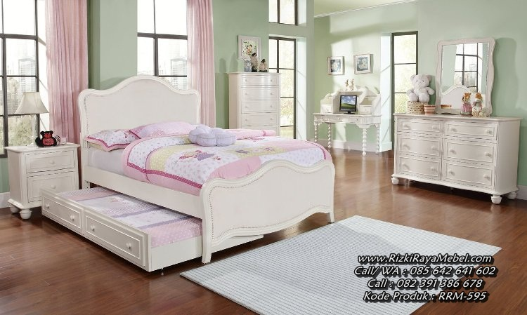 Set Tempat Tidur Anak Perempuan Sorong
