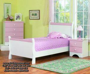 Tempat Tidur Anak Perempuan Warna Ungu