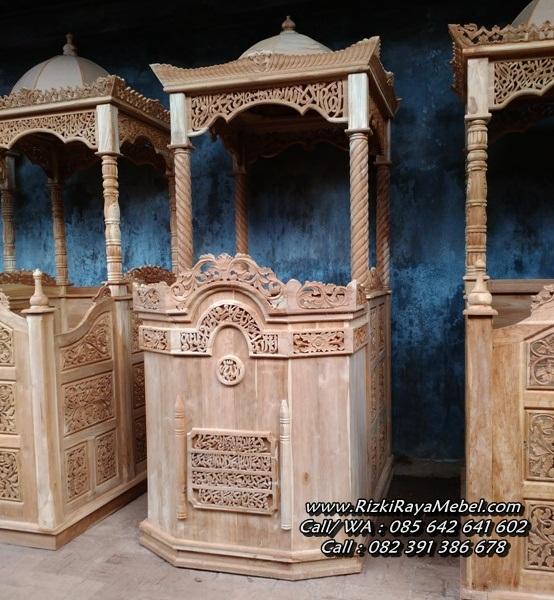 Mimbar Masjid Ukir Jepara Kubah Jati