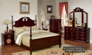 Model Tempat Tidur Klasik Mewah Kayu Jati