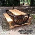 Kursi Bangku Taman Antik Model Roda Delman