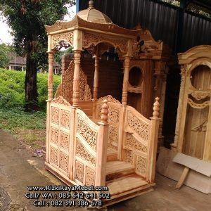 Mimbar Masjid Ukiran Jepara Kayu Jati