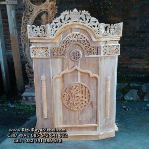 Mimbar Podium Masjid Murah Kayu Jati